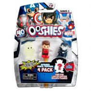 Ooshies 4 Pack Series 2 Marvel Pencil Toppers Wasp Red, Iron Man Stealth